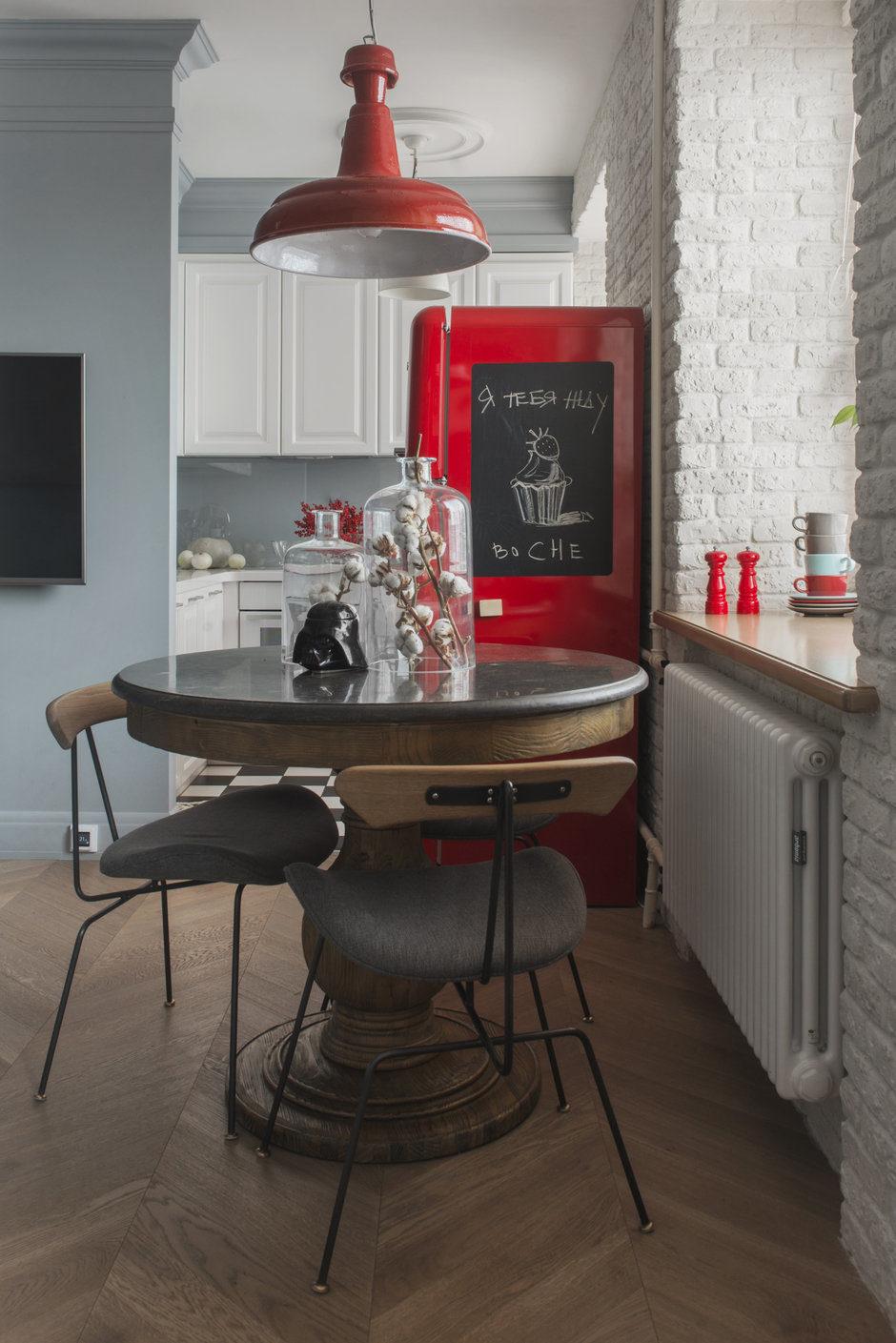 дизайн маленькой кухни 6 кв.м с холодильником