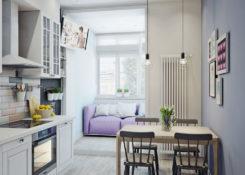 Как оформить дизайн маленькой кухни с балконом