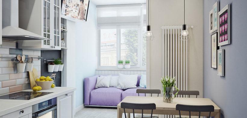 Как оформить интерьер маленькой кухни с балконом