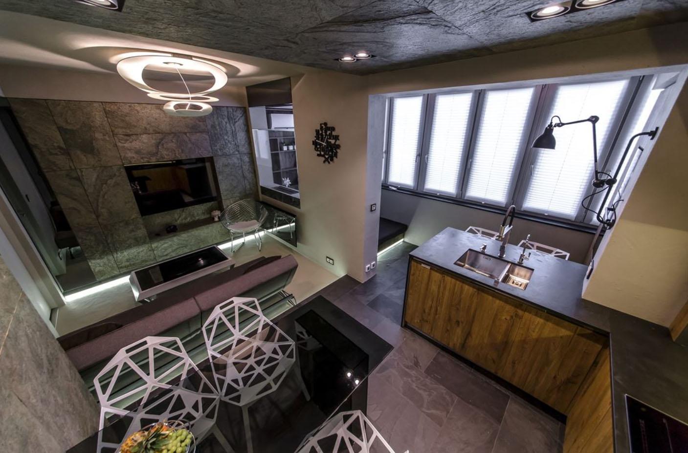 ремонт кухни с балконом