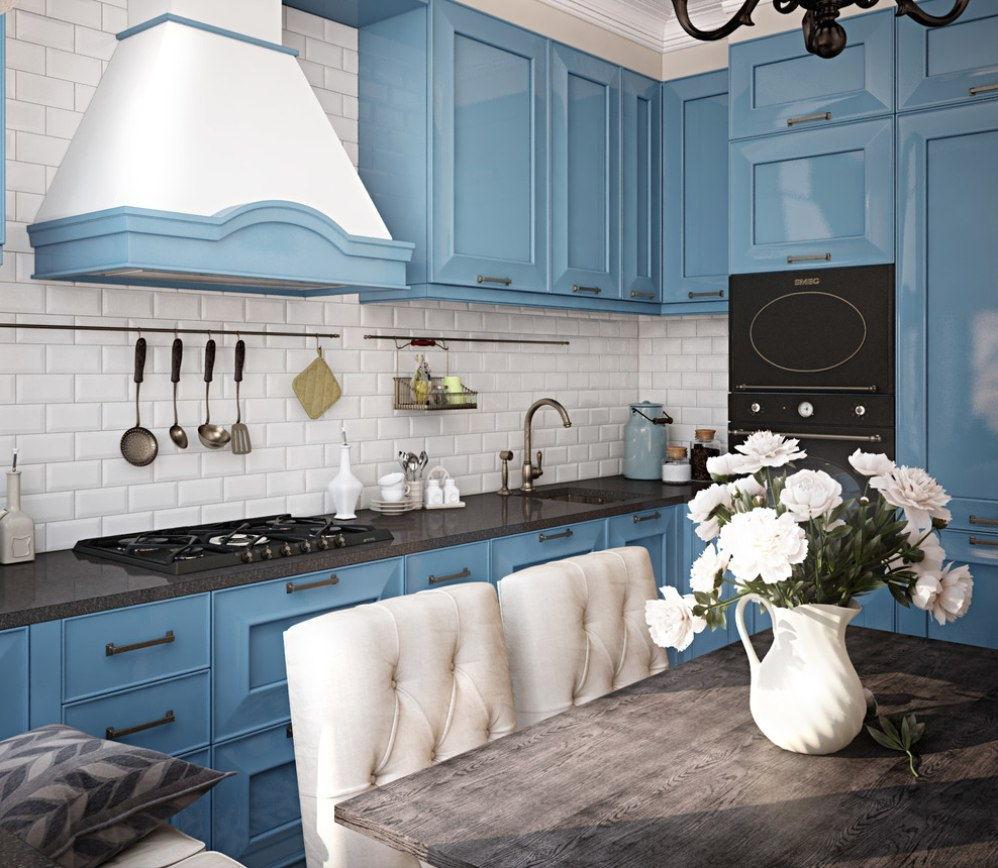 дизайн маленькой кухни с диваном