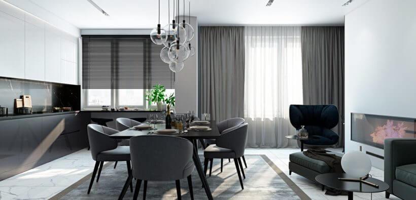 Дизайн интерьера в серых тонах: 3 крутых проекта