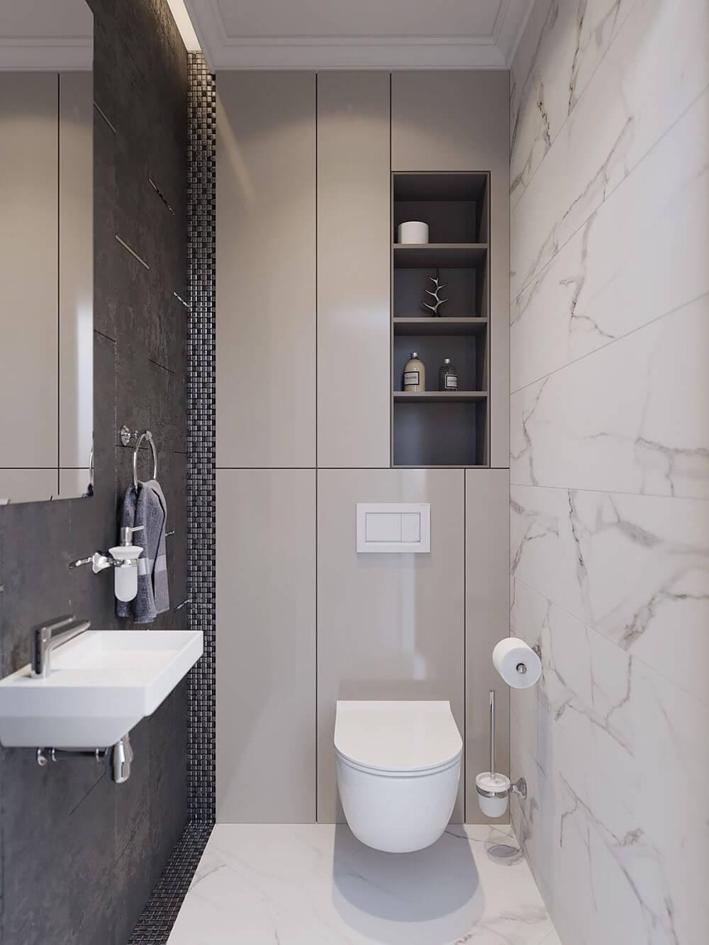 дизайн малогабаритного туалета