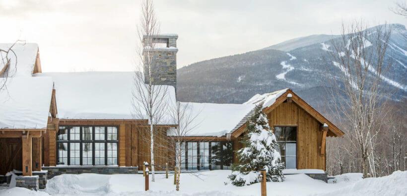 Cовременный дом в горах: 20 фото внутри и снаружи