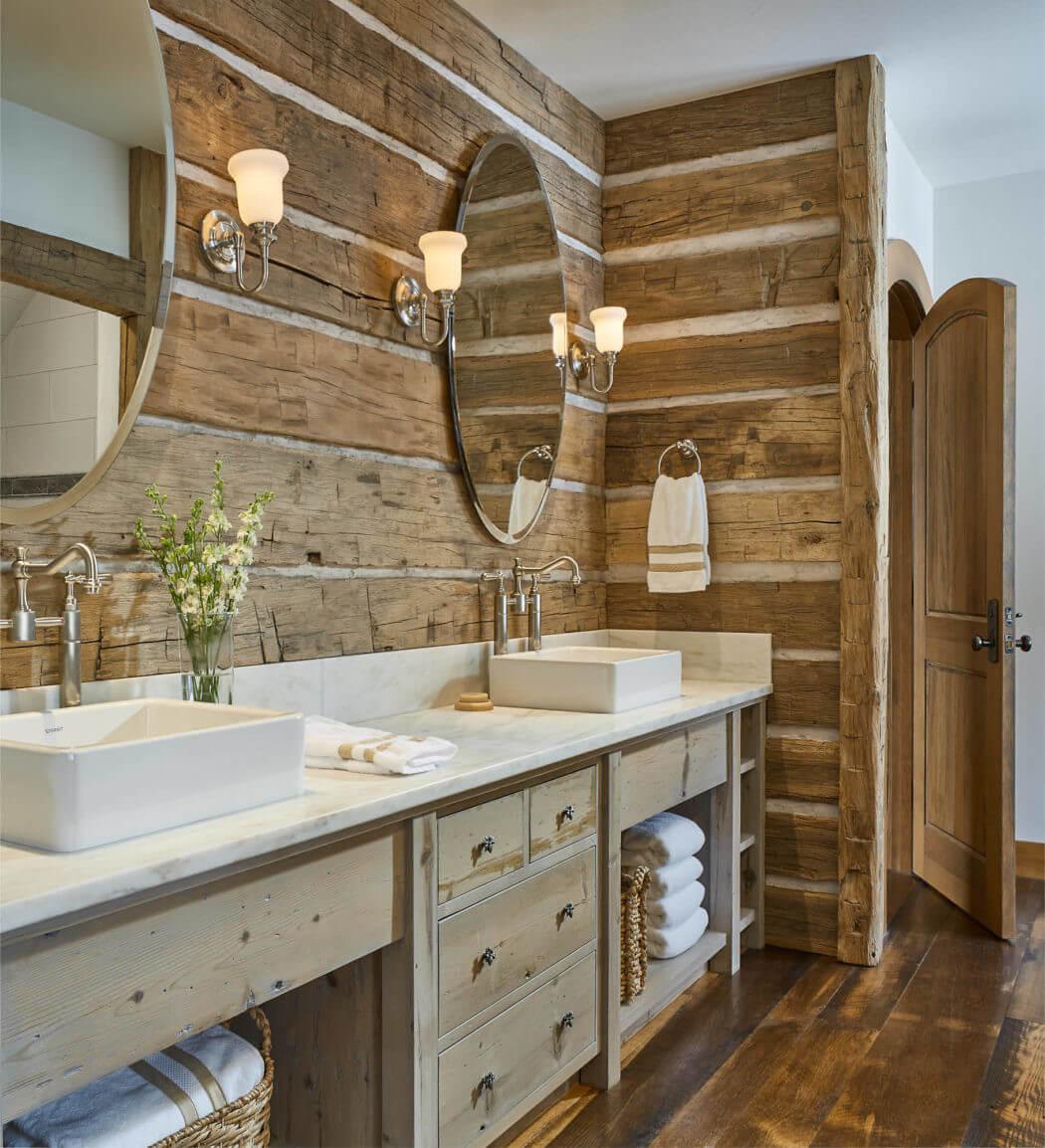 ванная в загородном доме