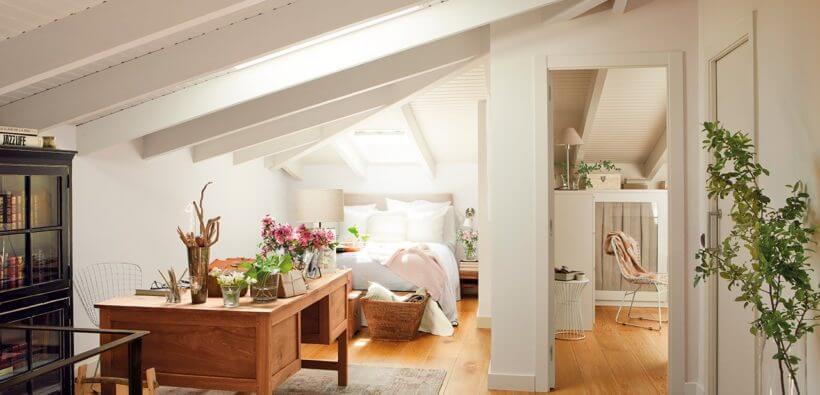 Дизайн маленькой спальни на мансарде: До и После
