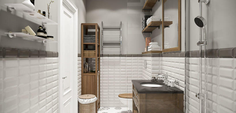 Маленькая ванная комната 3 кв. м: дизайн + 27 фото