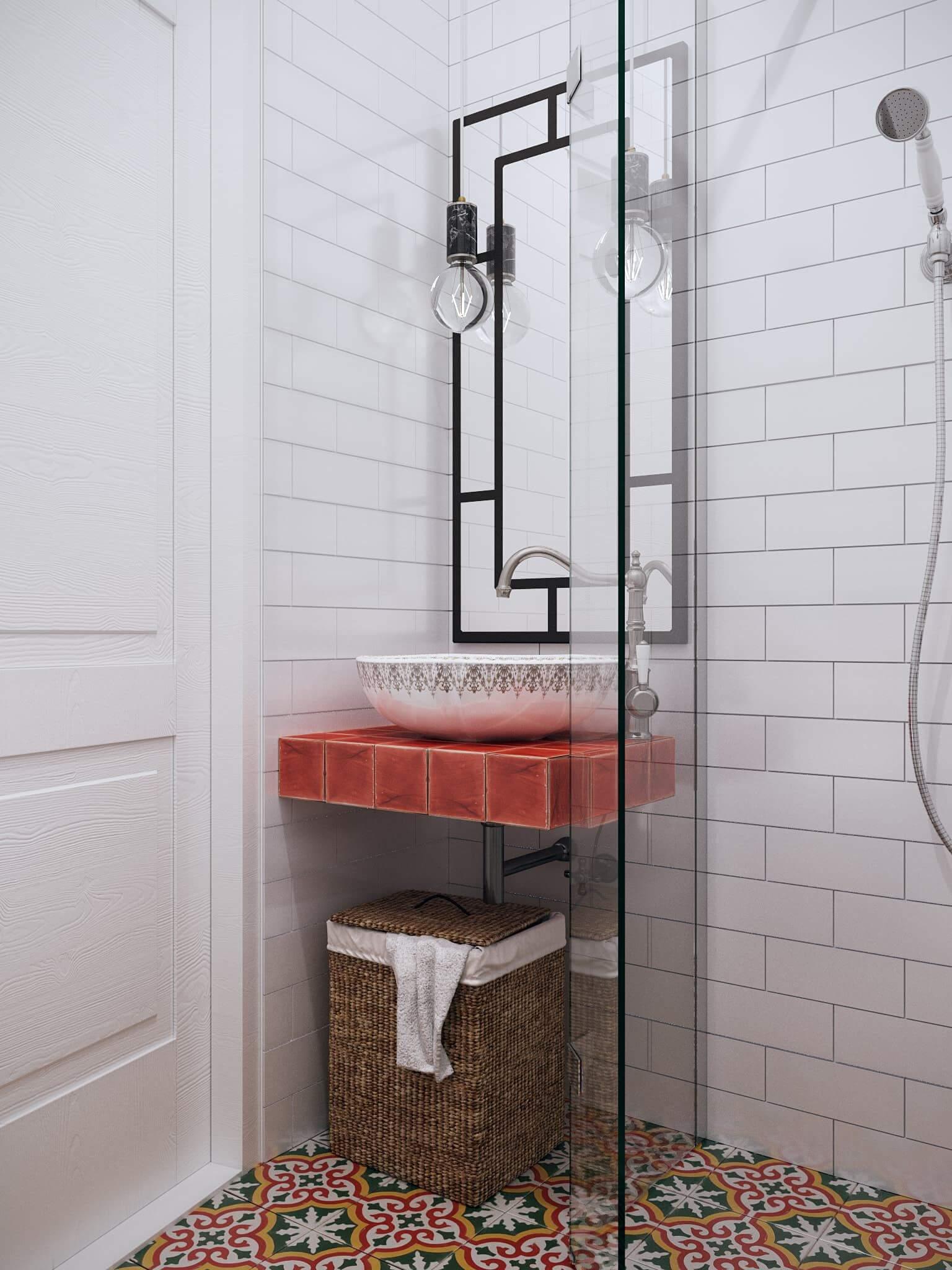 дизайн ванной комнаты маленького размера без унитаза