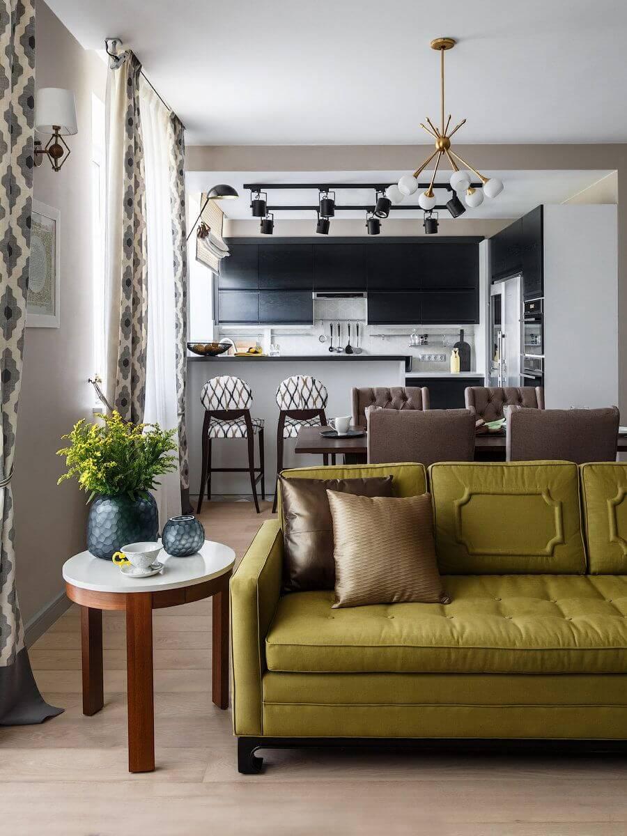 Дизайн кухни-студии 25 кв. м: интерьер в деталях
