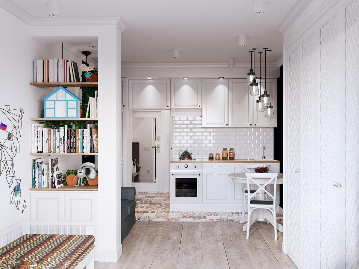 Дизайн маленькой кухни-студии: 20+ фото