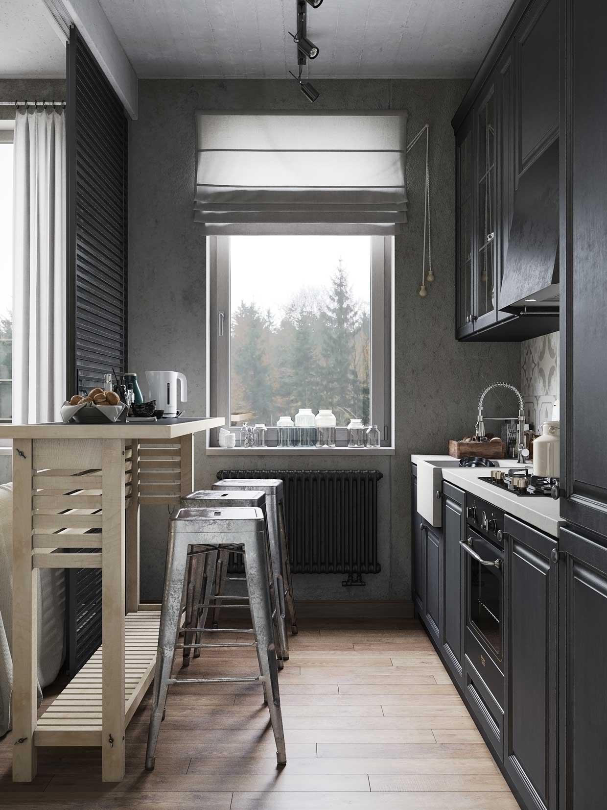 Кухни-студии в маленьких квартирах фото