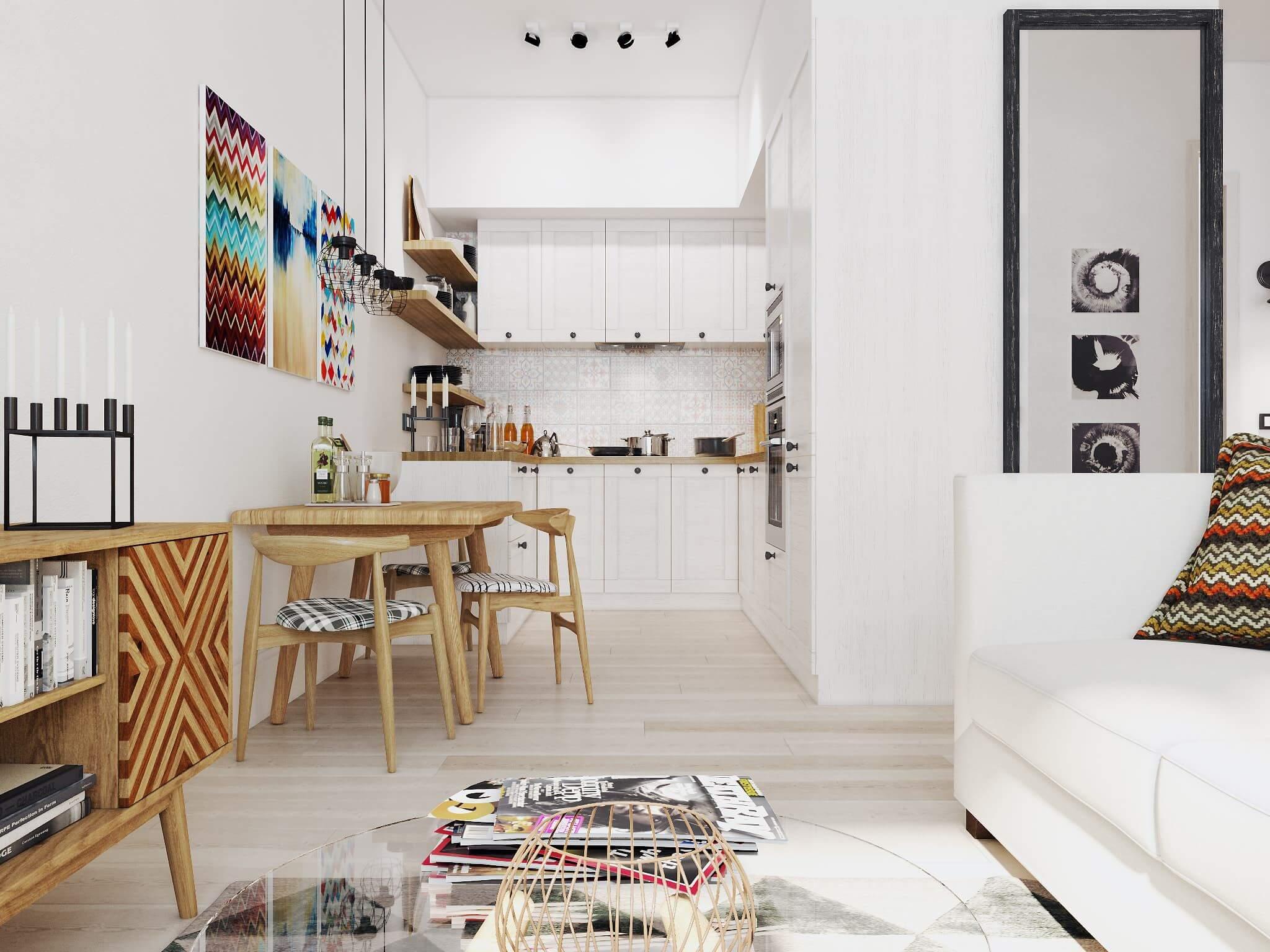 Ремонт кухни-студии