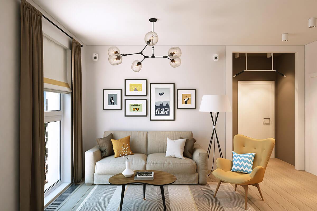 Маленькая гостиная в квартире