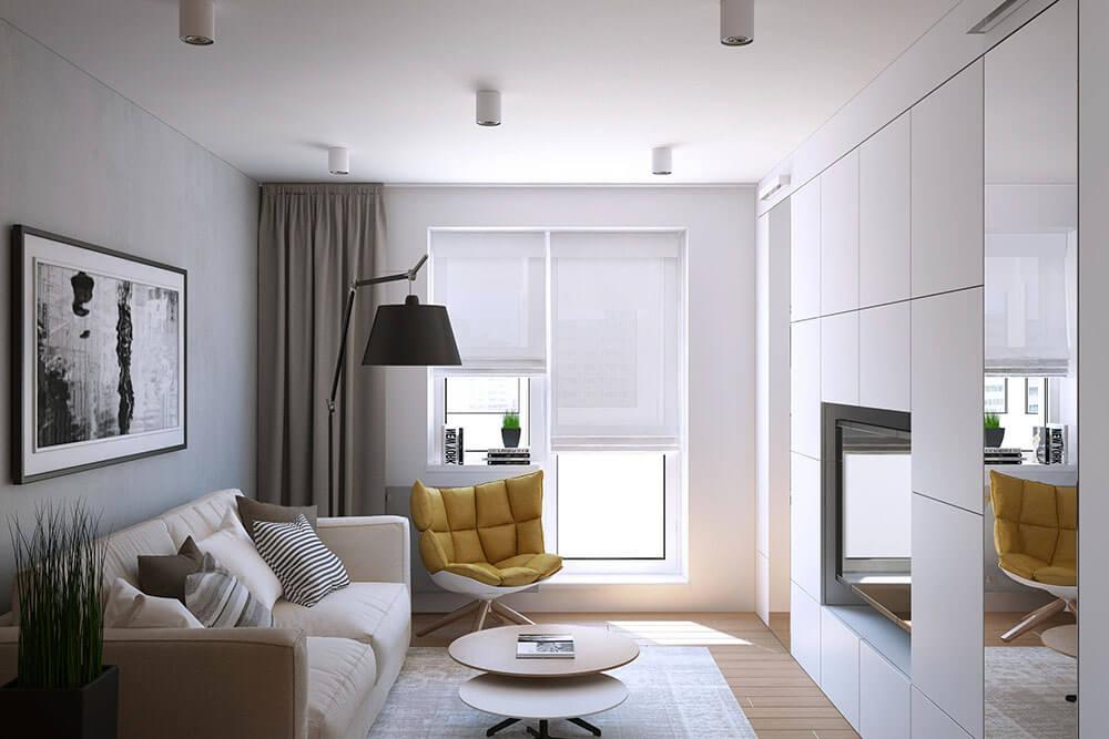Дизайн маленькой гостинной