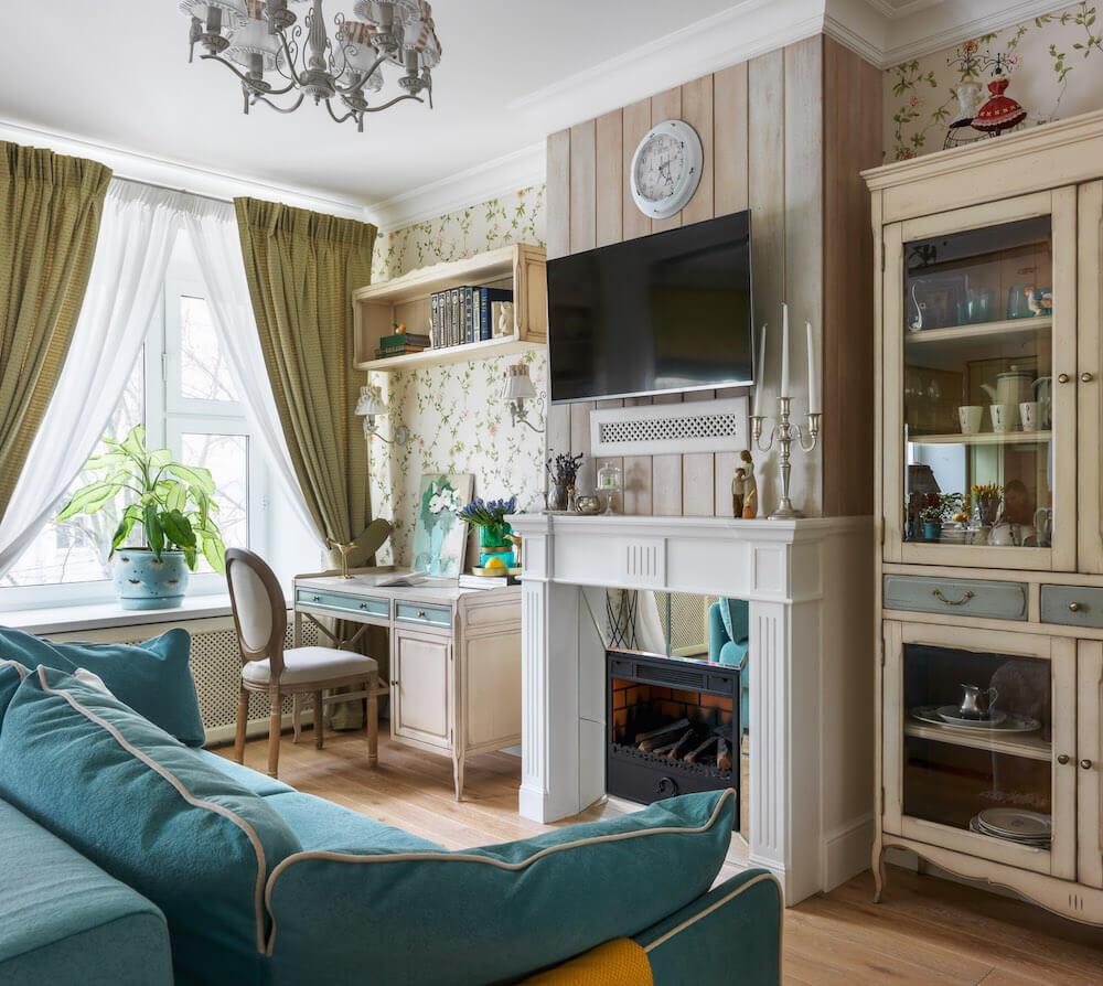 Красивый дизайн гостиной