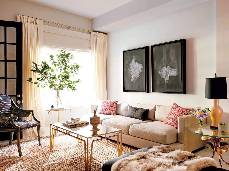 шторы в гостиную в современном стиле