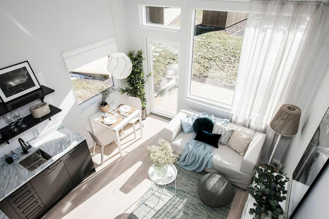 шторы в гостиную в стиле минимализм