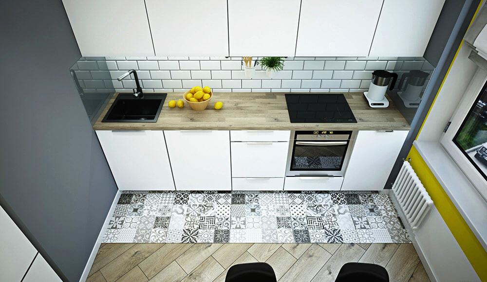 Небольшая кухня-студия