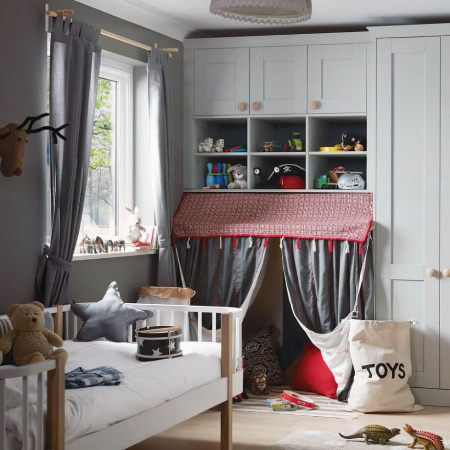 дизайн детской комнаты для мальчика 12 кв м