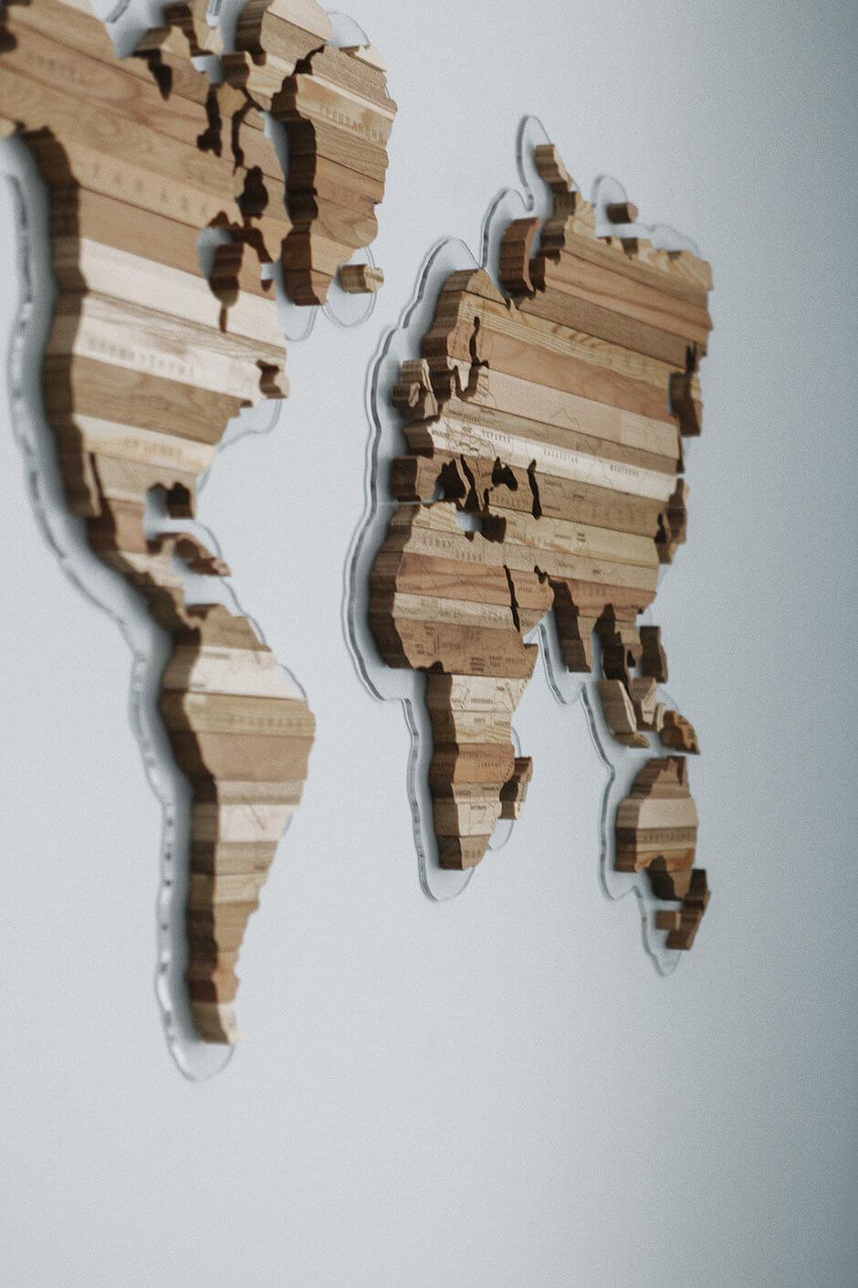 деревянная карта для детской