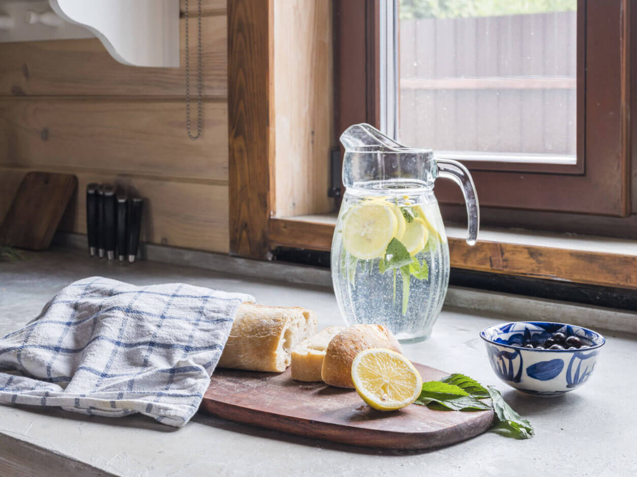 Лимонад на кухне