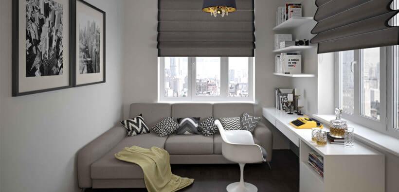 Дизайн маленькой спальни с диваном: 30+ фото
