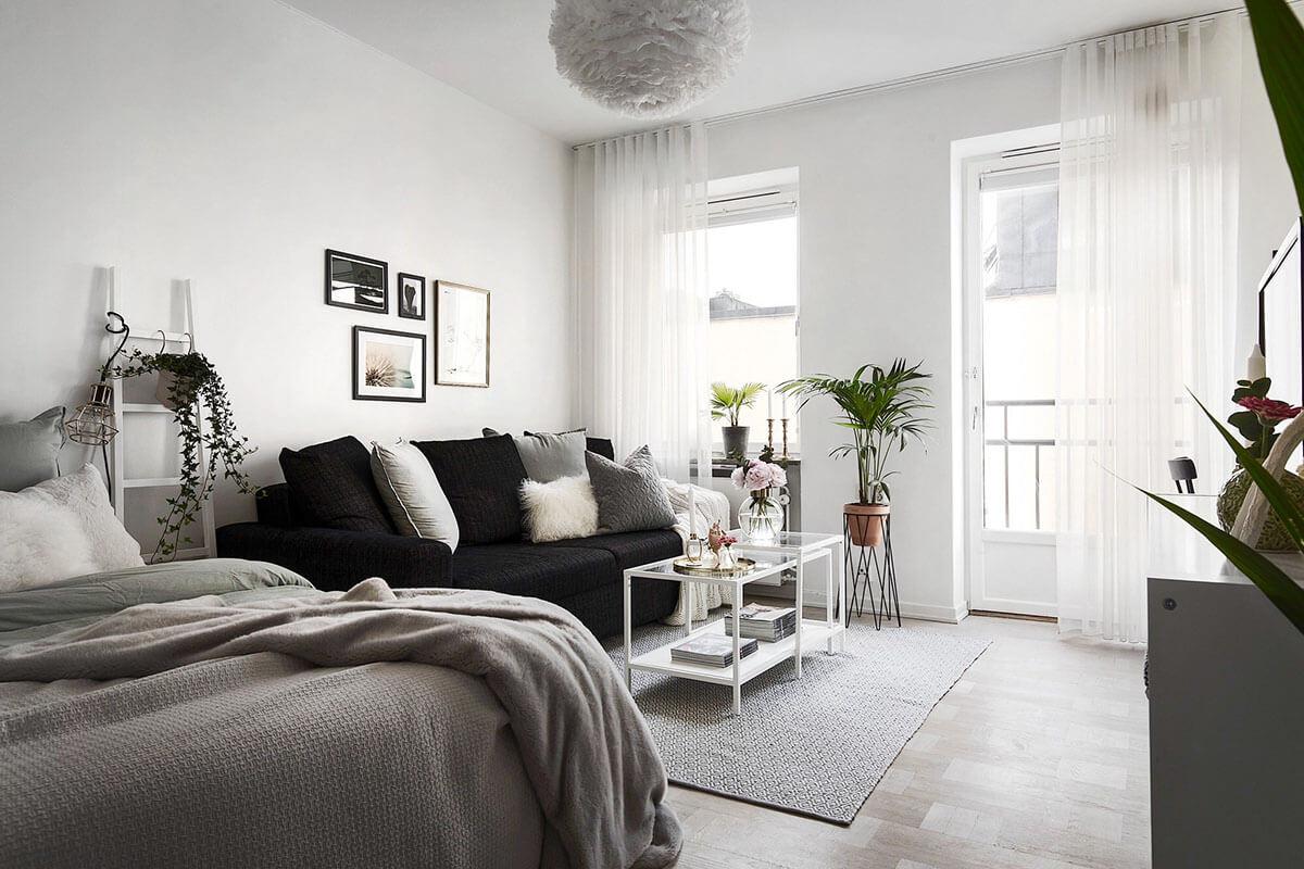 дизайн спальни гостиной 18 кв м