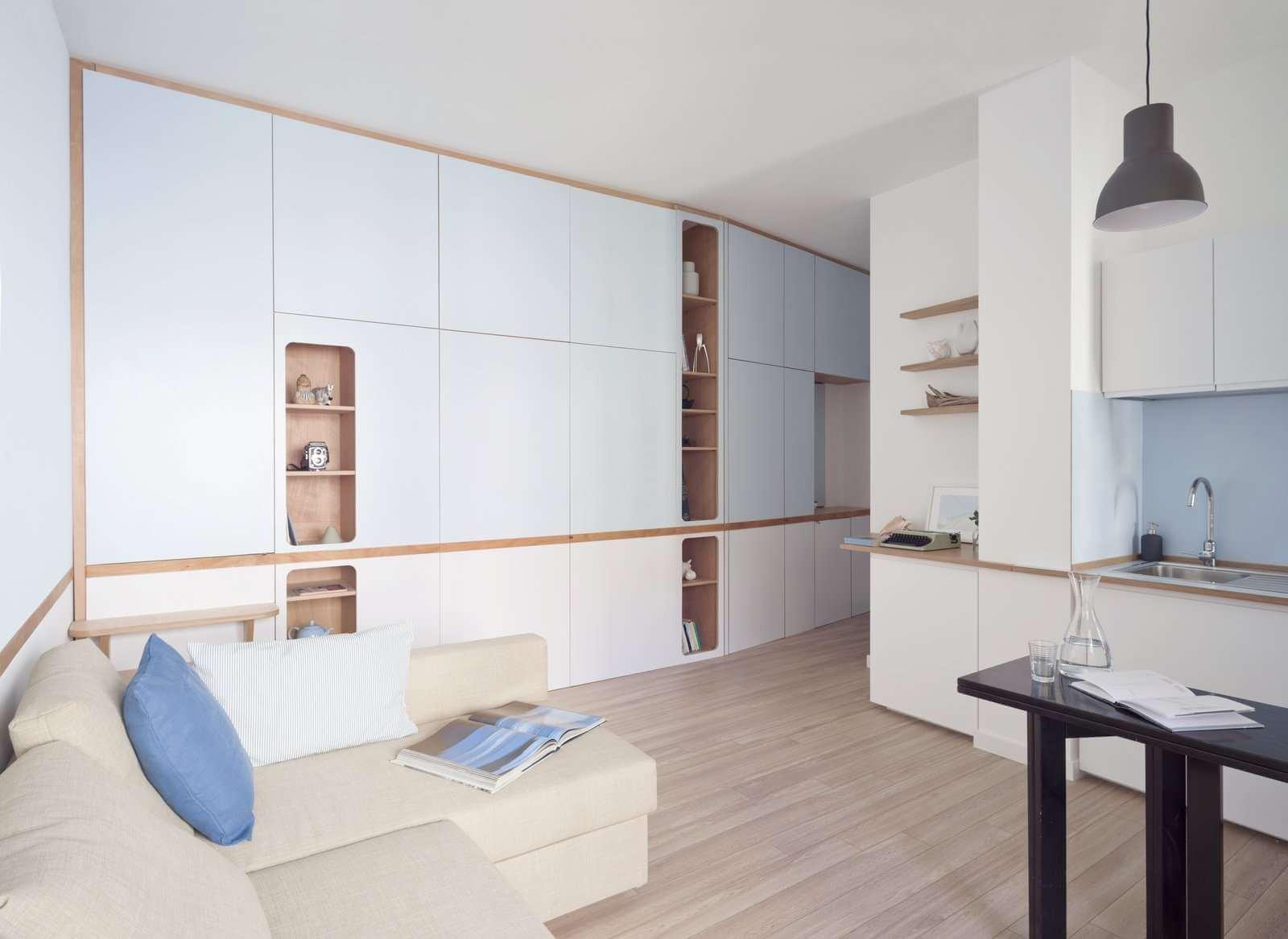 интерьер квартиры студии 30 кв м