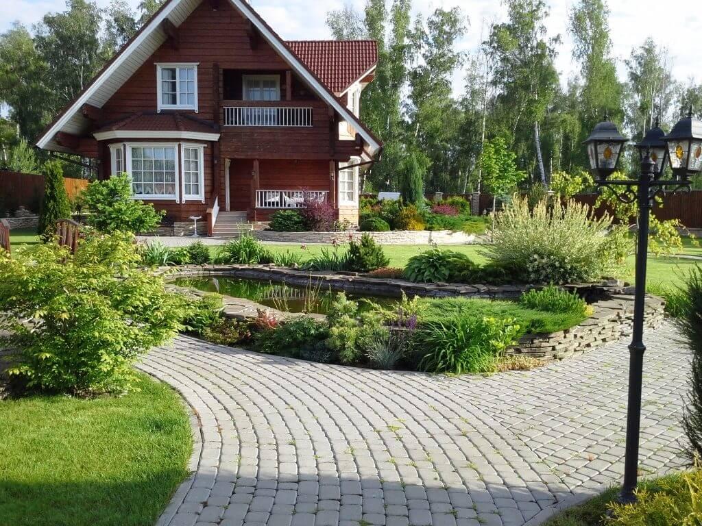 Ландшафтный дизайн загородного дома: 24 идеи