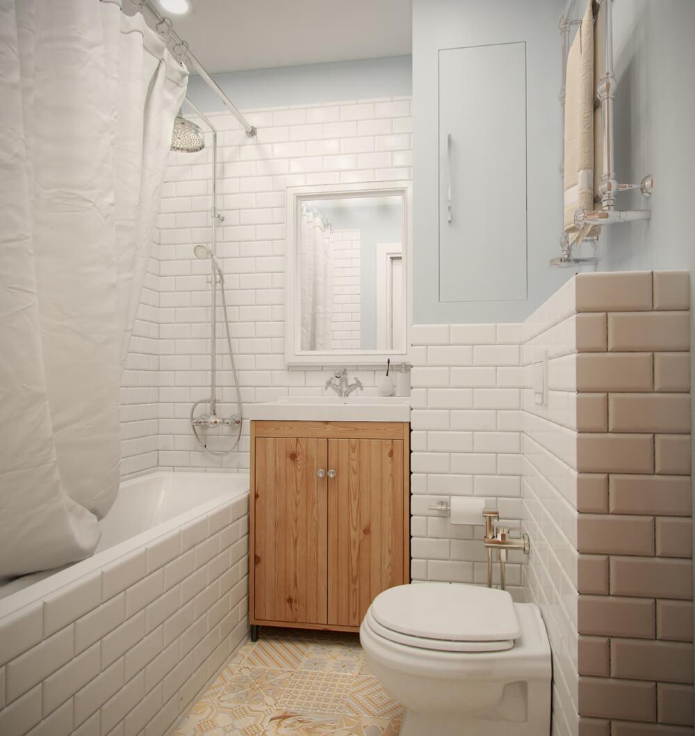 плитка для маленькой ванной фото дизайн