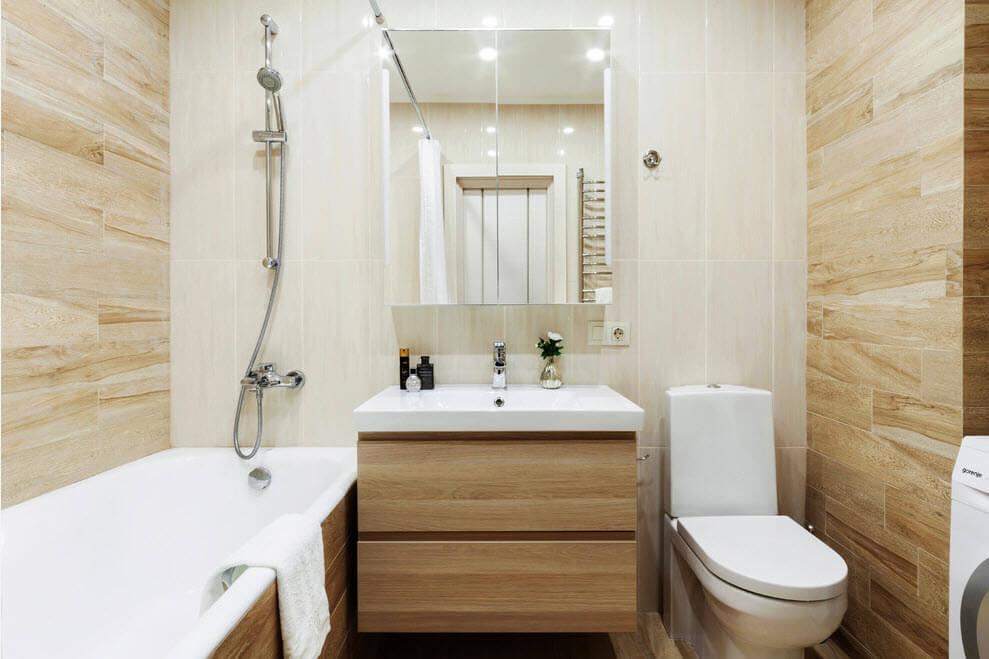 дизайн маленькой ванной комнаты в хрущевке