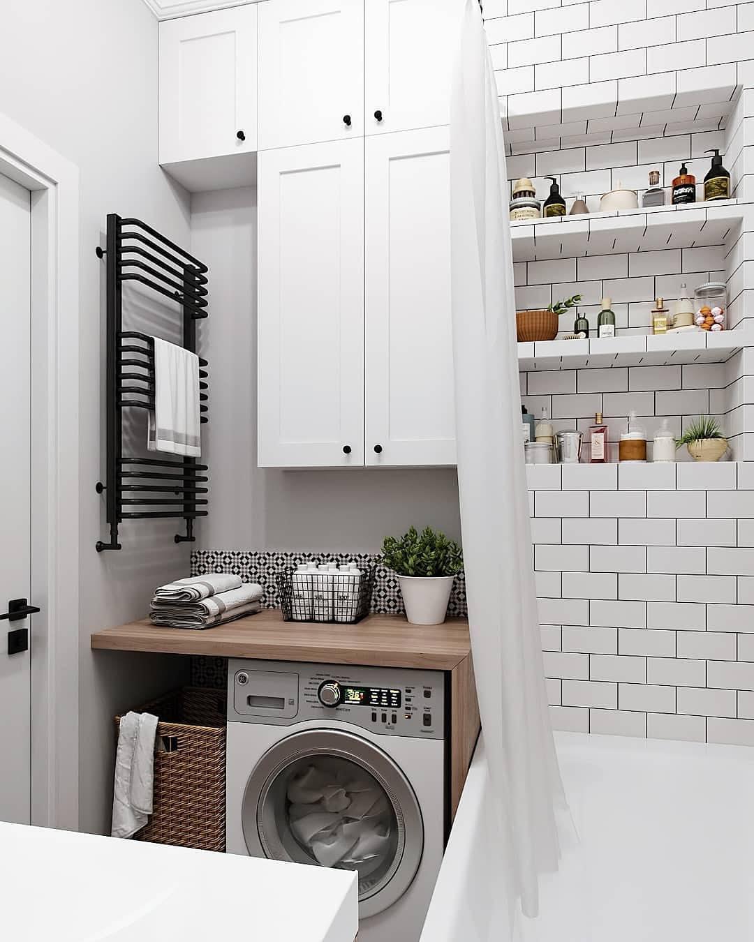 дизайн совмещенной ванной комнаты маленького размера