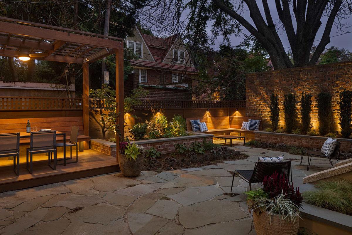 освещение садового участка