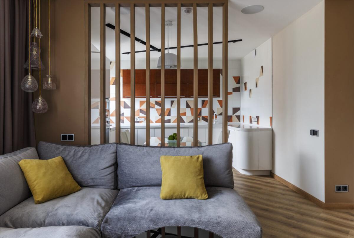 Дизайн кухни-студии с перегородкой: 33 фото в деталях
