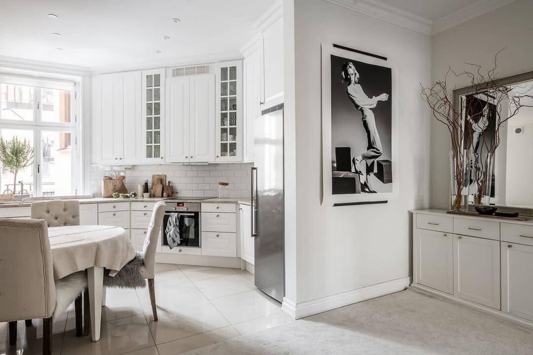 Кухня-студия в доме