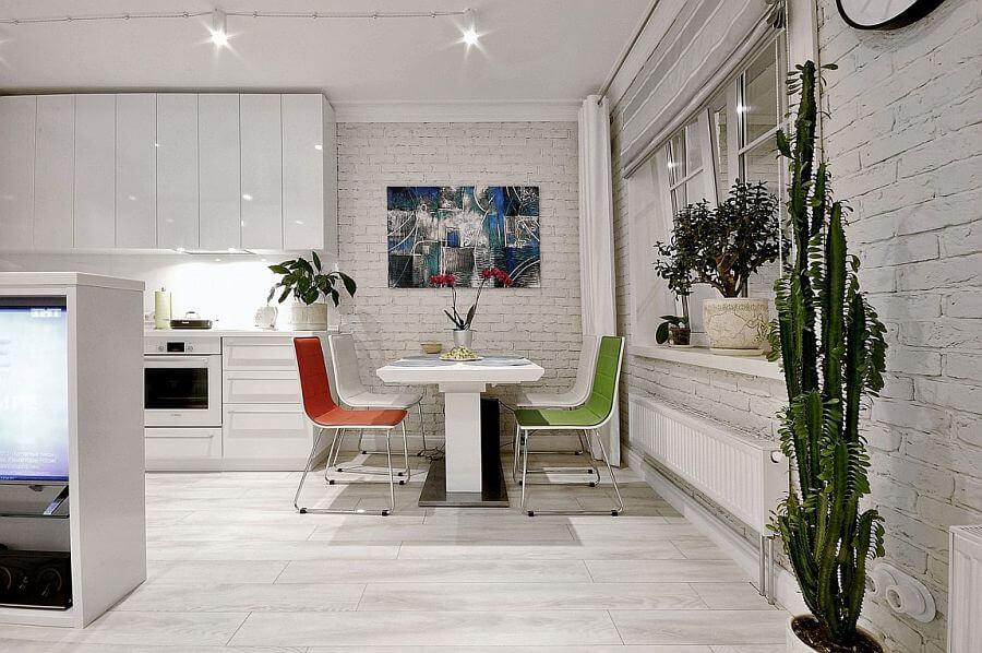 Кухня-столовая в квартире-студии