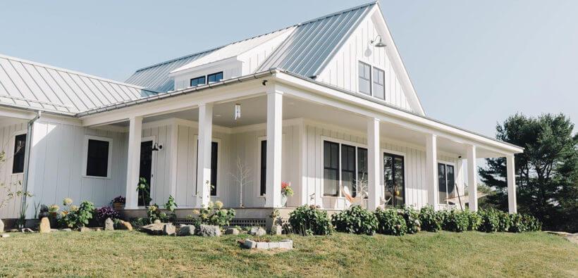 Красивый каркасный дом из Коннектикута