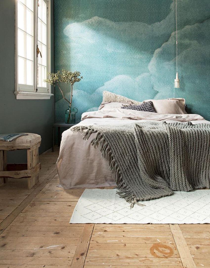 облака в спальне