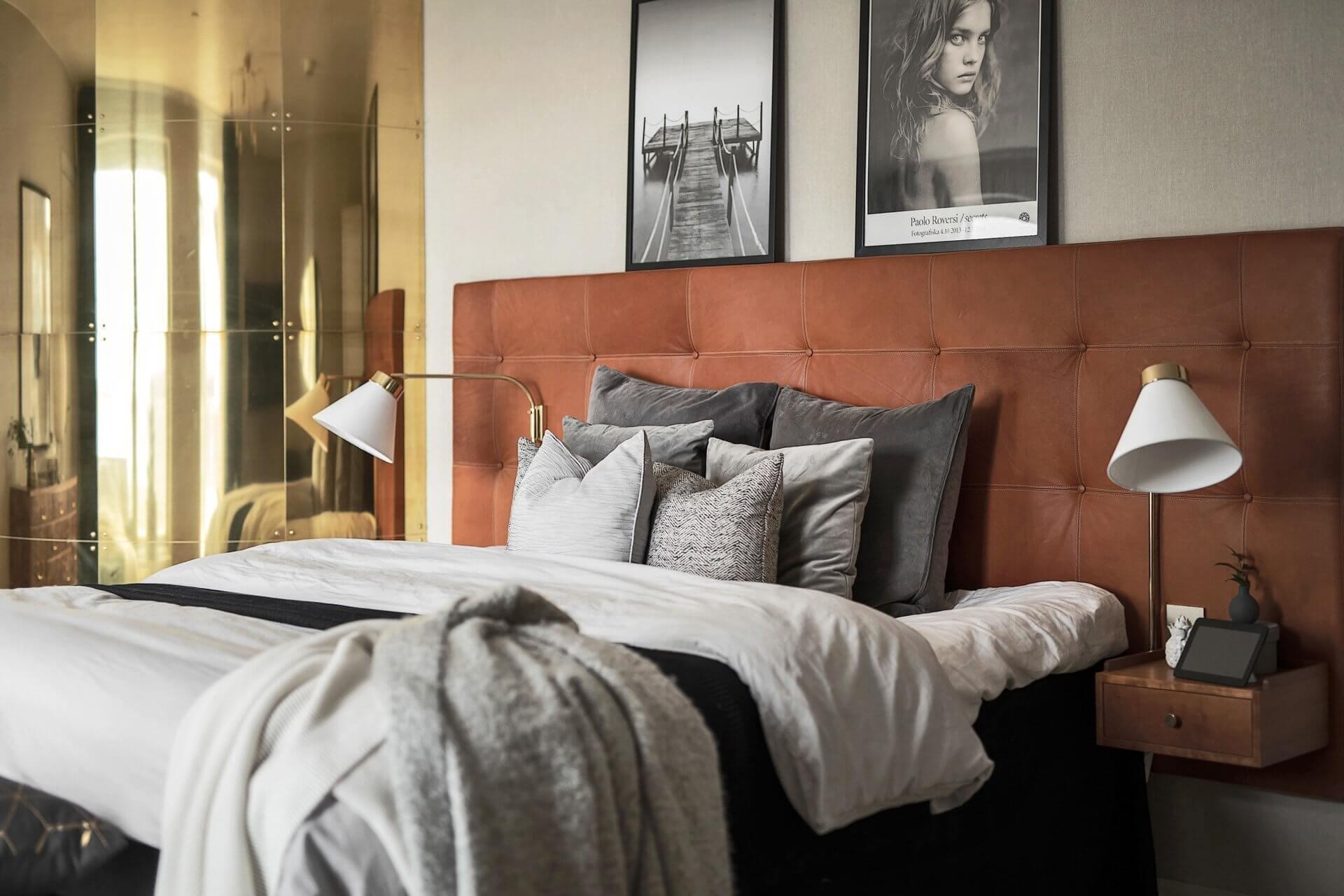 Дизайн спальни с белыми стенами