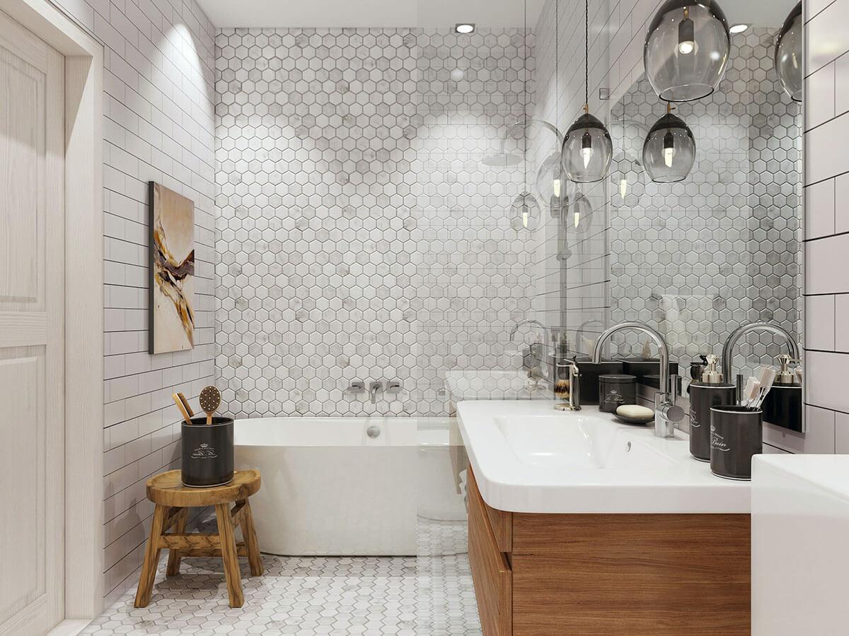 Красивая ванная комната в хрущевках