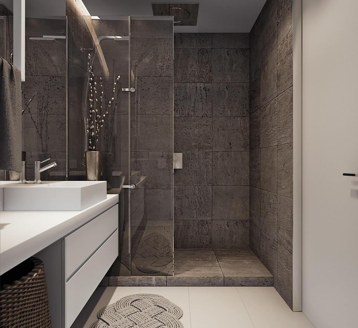 Красивая ванная комната в квартире
