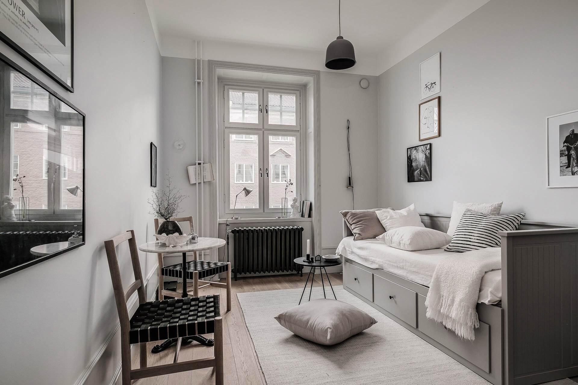 Светлый дизайн квартиры-студии 20 кв. м