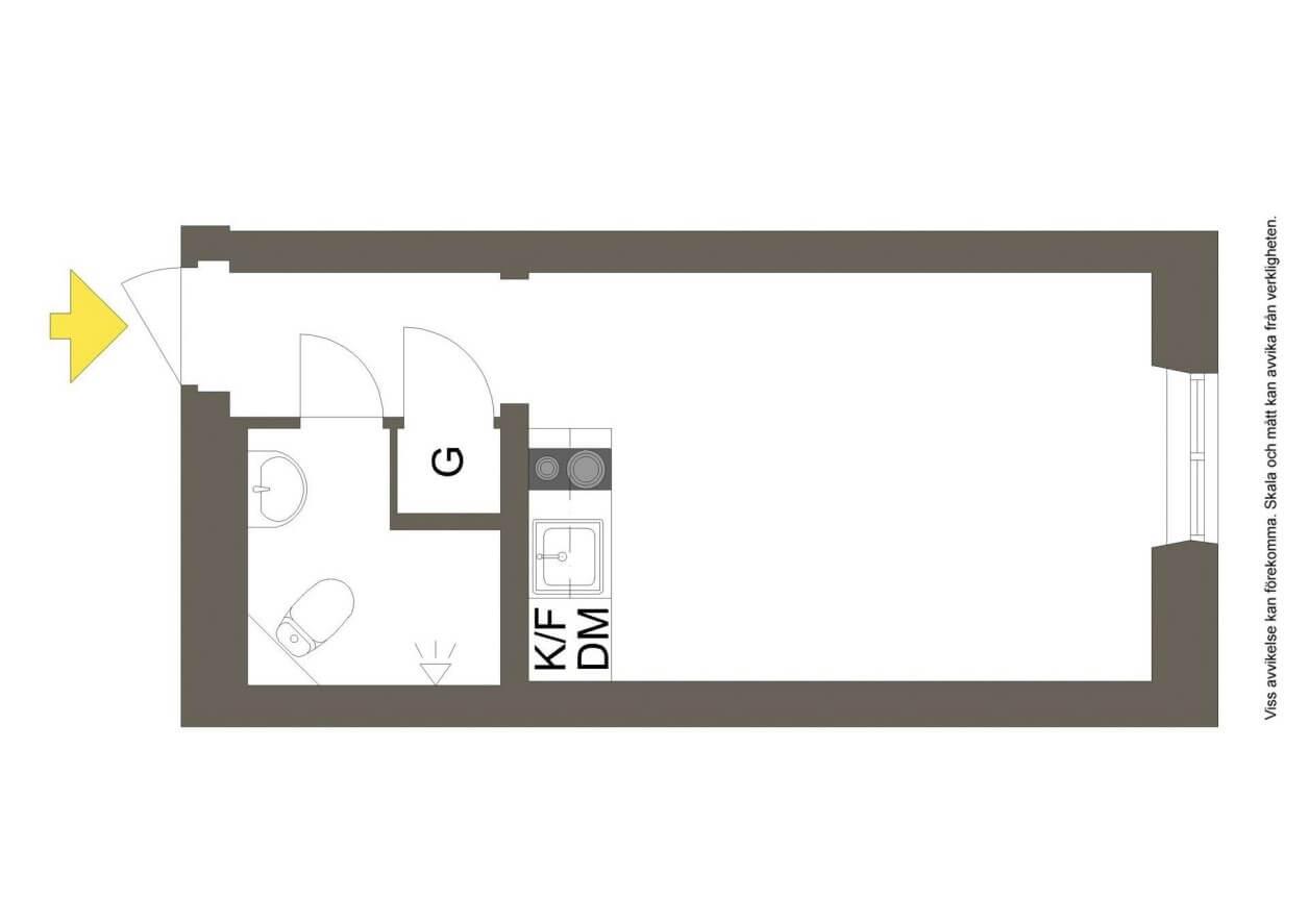 План маленькой квартиры-студии