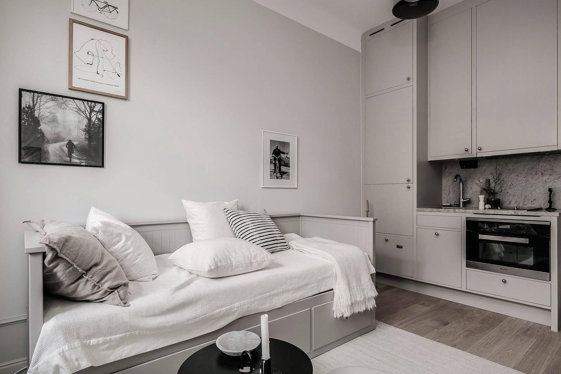 Дизайн квартиры-студии 20 кв. м