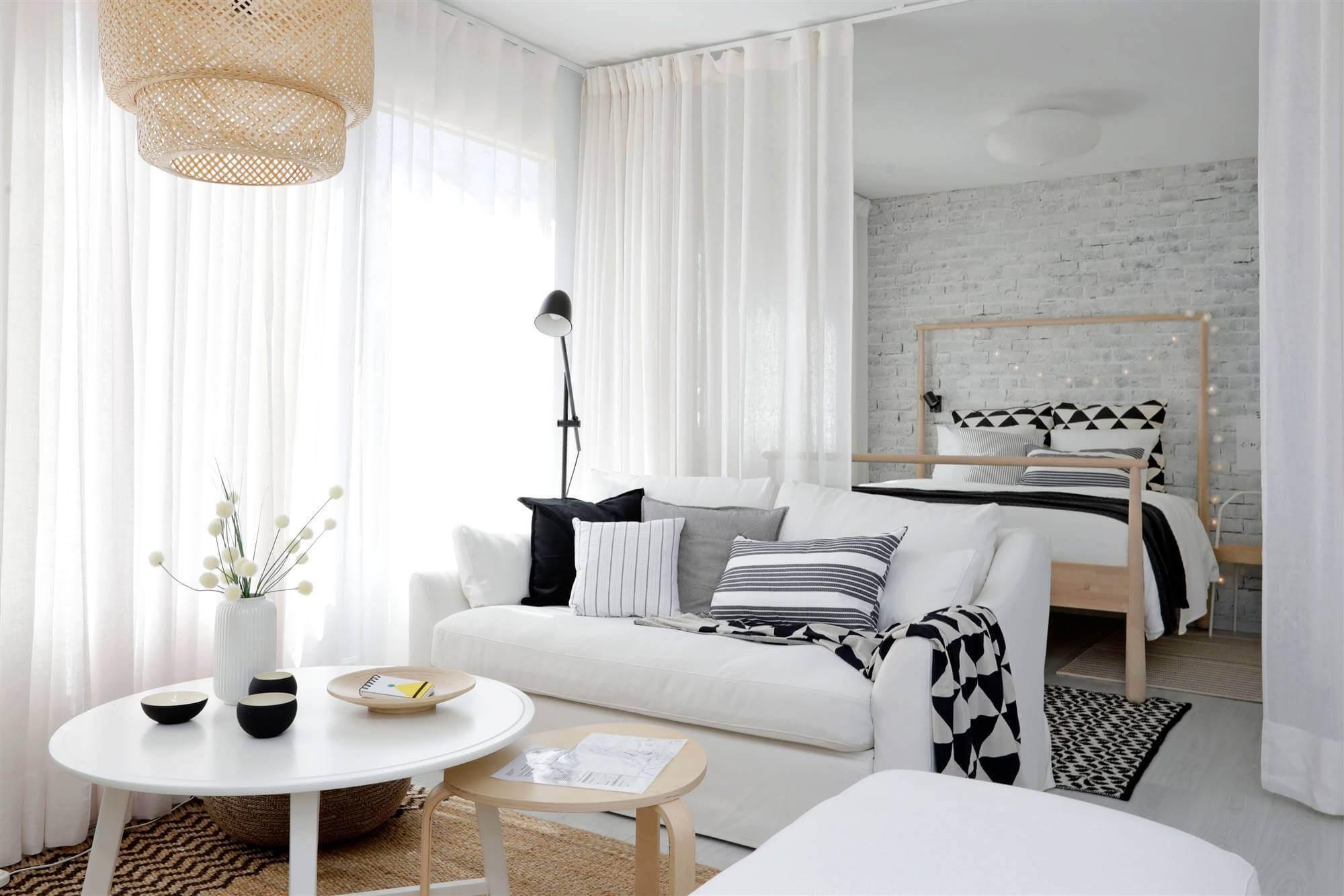 Уютная спальня-гостиная