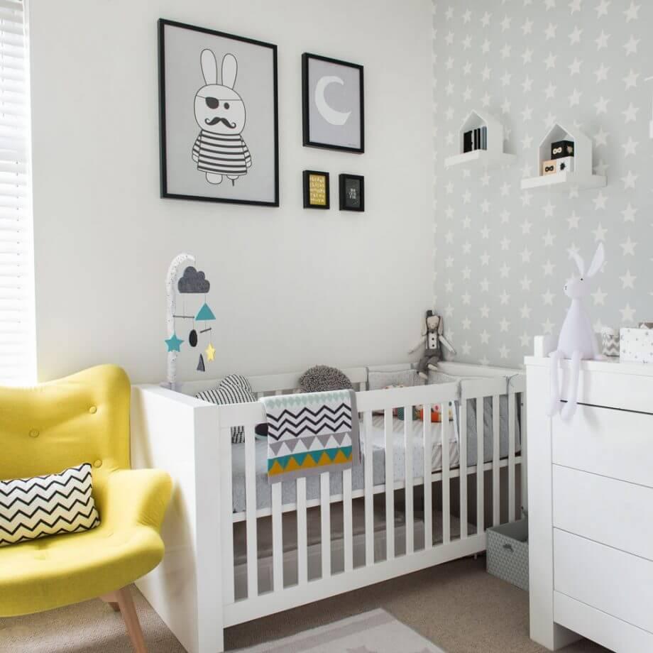 Светлая детская для новорожденного