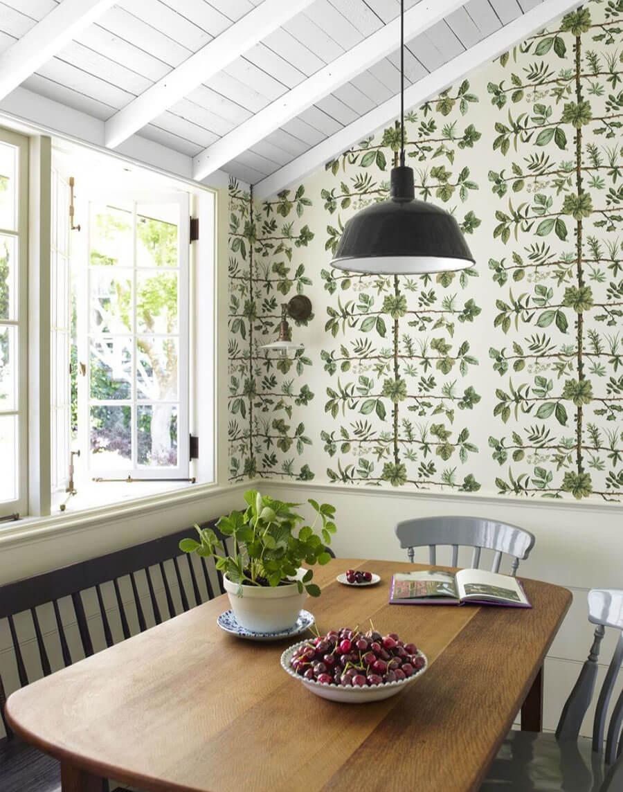 Цветочные фотообои Кухня в деревенском стиле