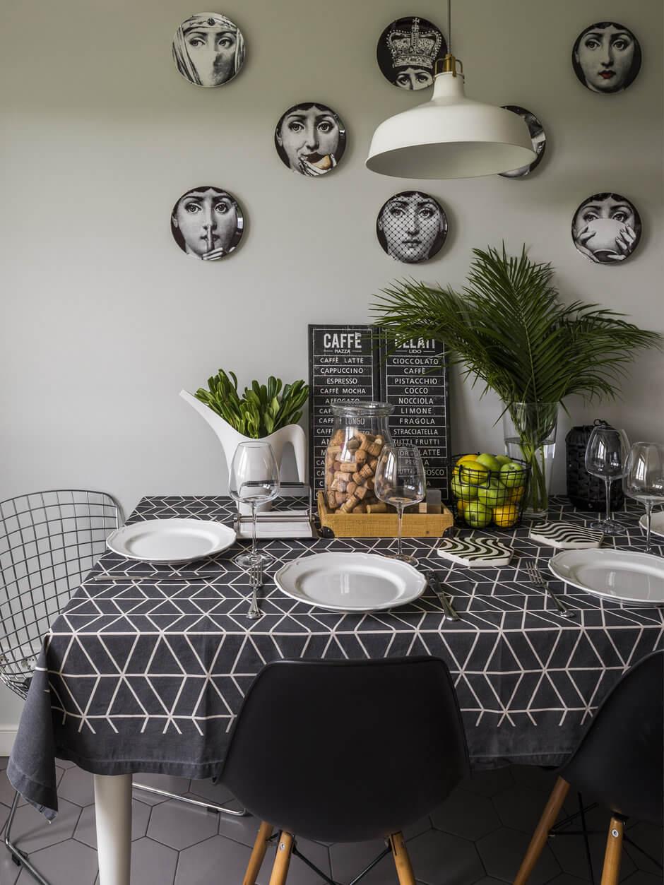 Столовая на кухне в квартире