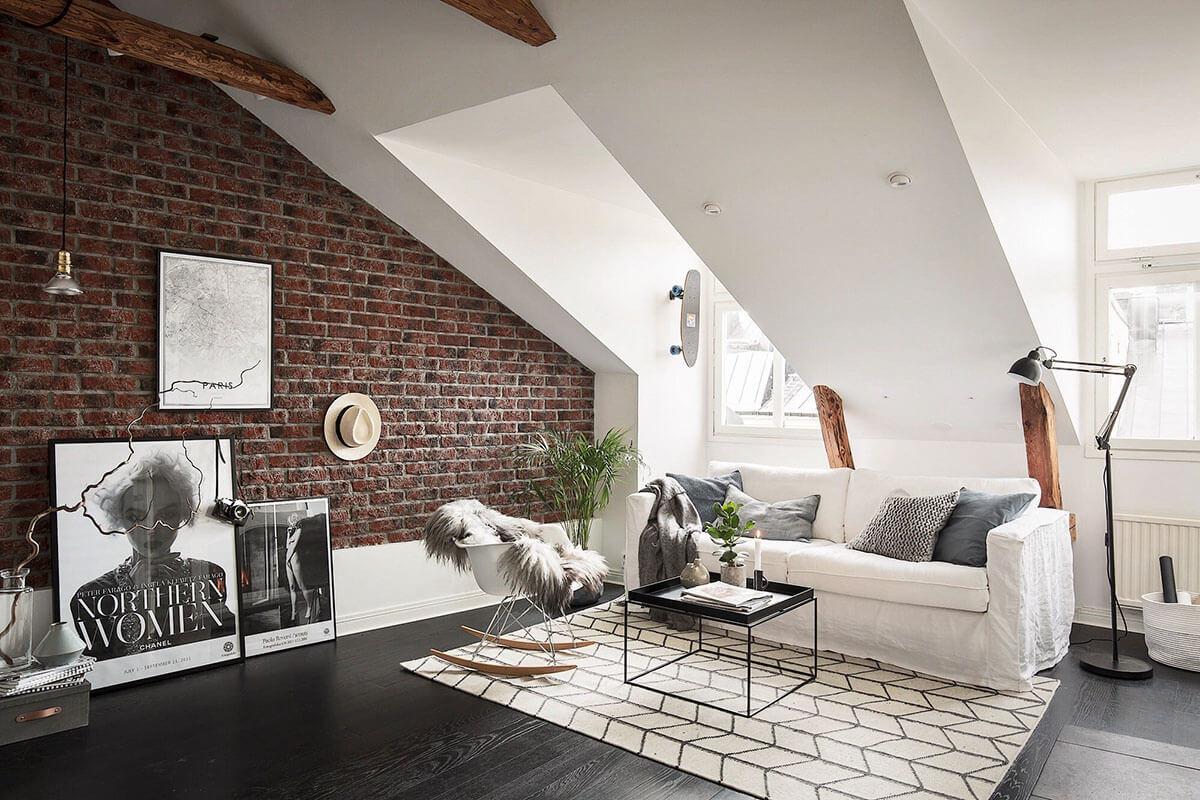внутренний дизайн дома с мансардой