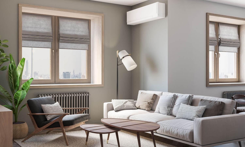 Дизайн зала в светлых тонах